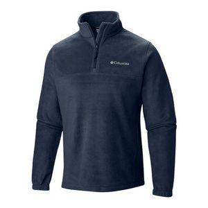 Columbia Navy Blue Quarter Zip Fleece Pullover